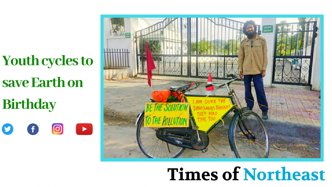 youth cycle, birthday, air pollution, save earth, covid 19 good news stories